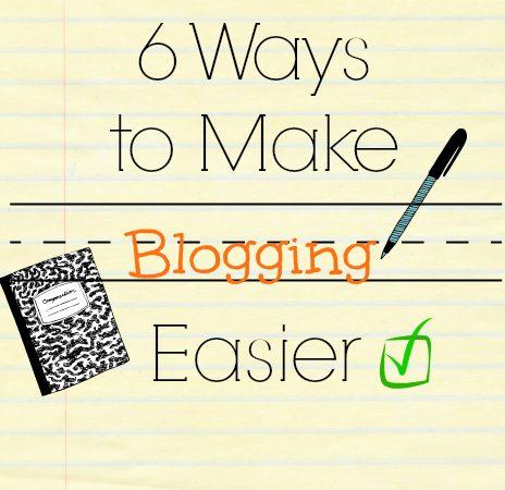 blogging easier