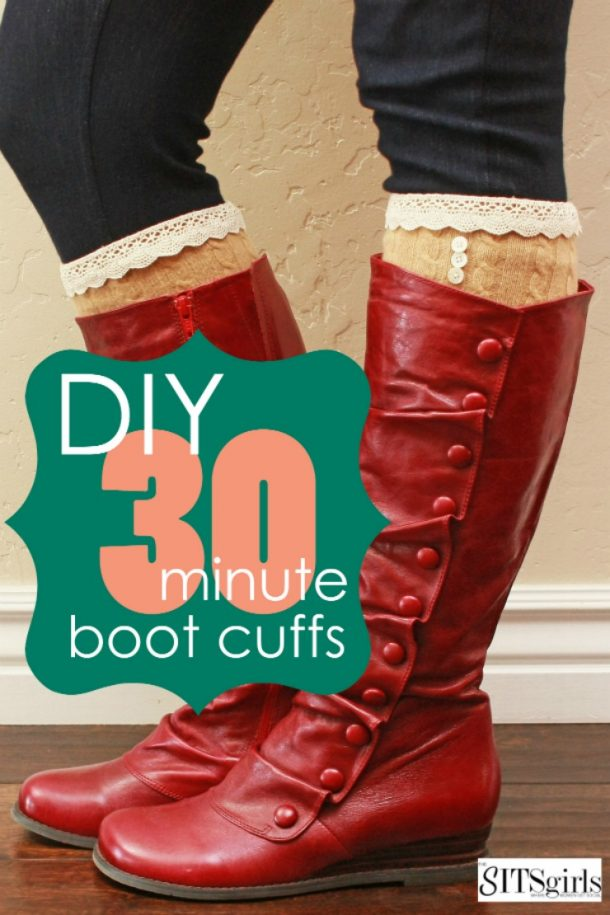 DIY Boot Cuffs - LOVE how cute these look! Super easy to make, too.