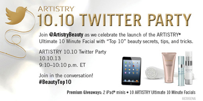 BIG Prize Pack + Top 10 Beauty Tips = Twitter Party Goodness with ARTISTRY