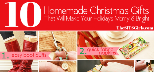 Using these 10 easy homemade Christmas Gift ideas, you can spark your own inner Christmas creativity.  Easy gift giving is at your fingertips!
