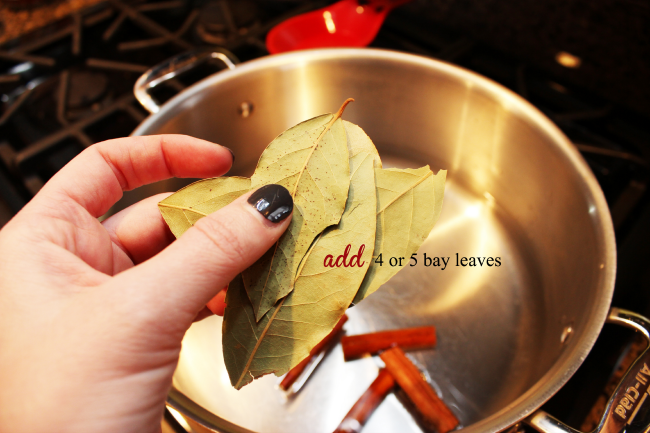 Add bay leaves to your homemade simmering potpourri.