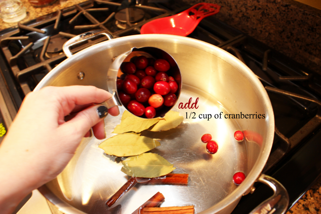 One half cup of cranberries.