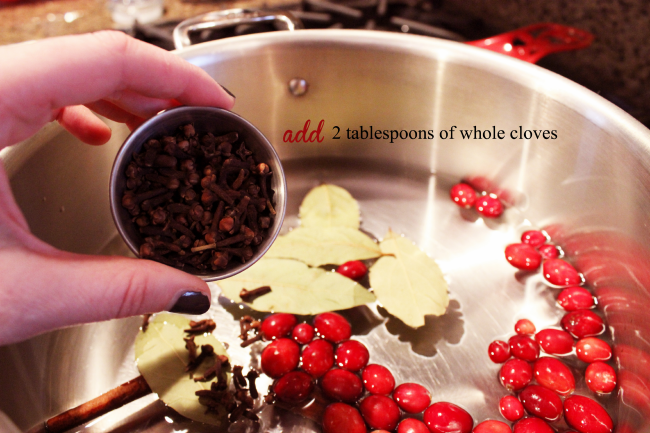 Add two tablespoons of whole cloves.