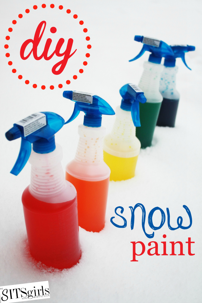 Snow paint is the perfect activity for your kids on a cold winter's day!