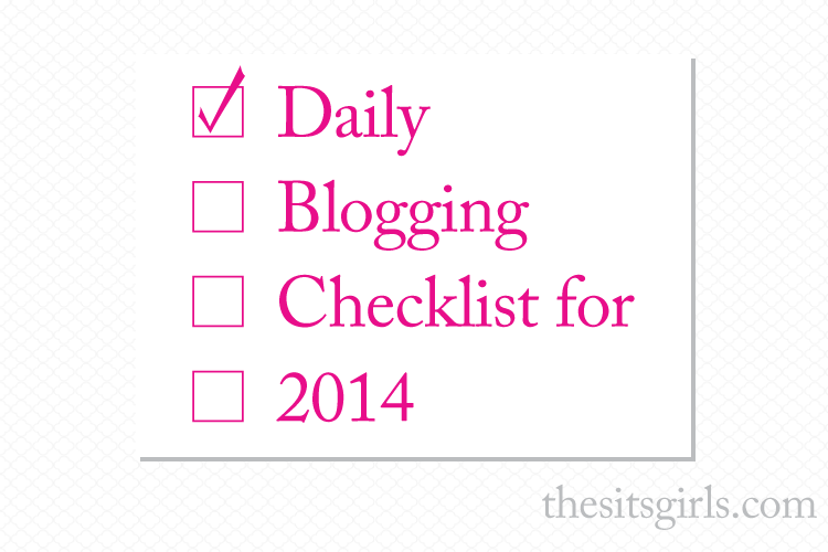 daily blogging checklist