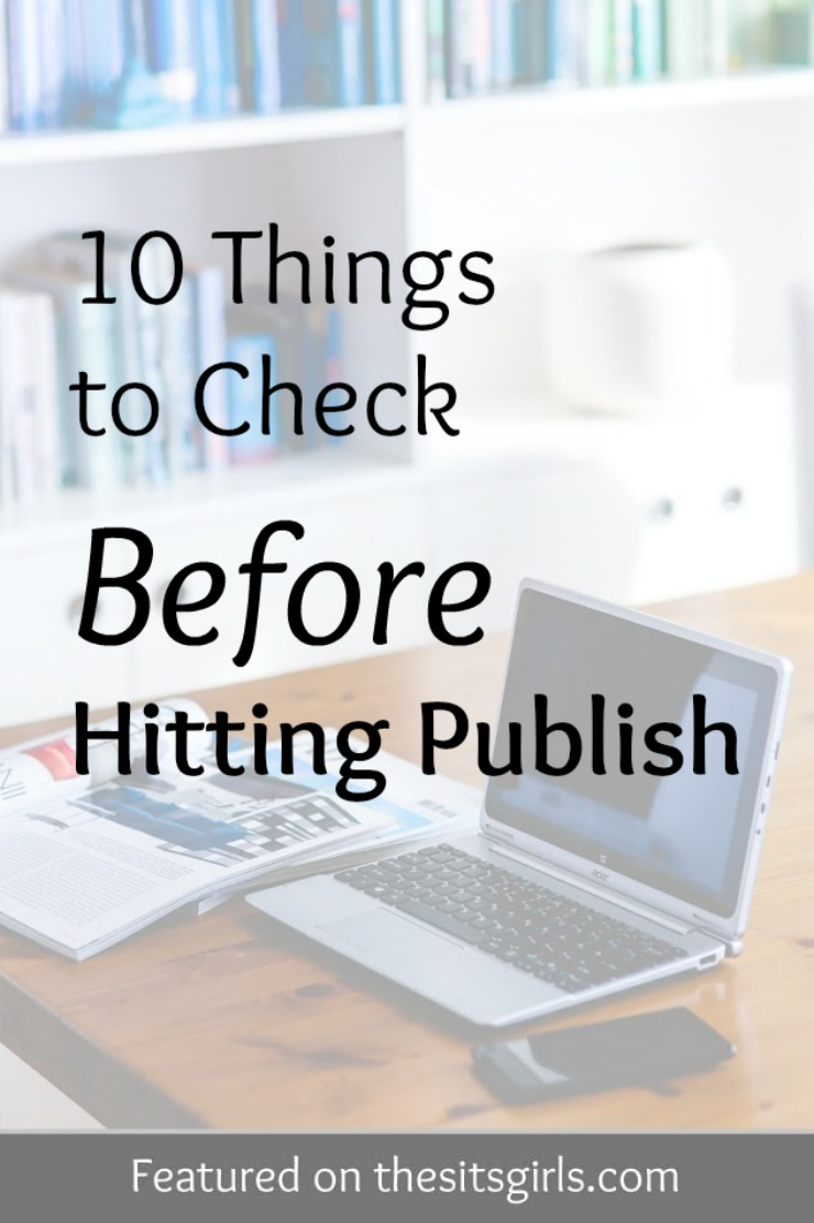 hitting publish