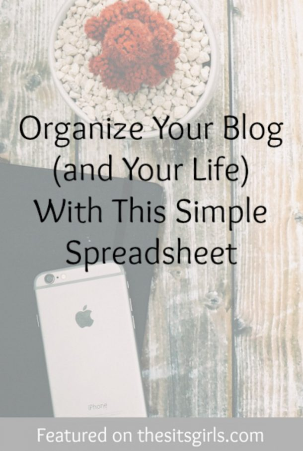 organize your blog