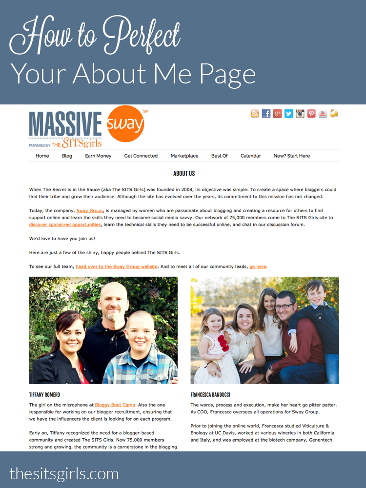 Blog Tip: The second most looked at page on your blog is the About Me page. These tips will help you create the perfect about page.