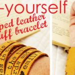 DIY Leather Bracelet + Linky to Feature Your Content