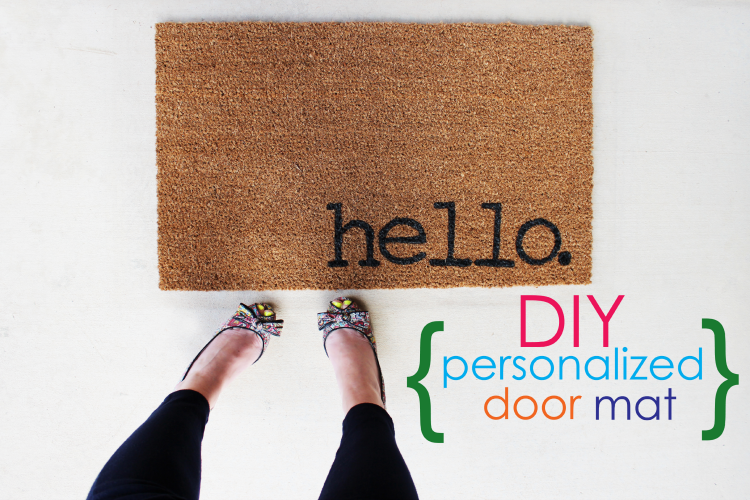 Make your own DIY Personalized Door Mats