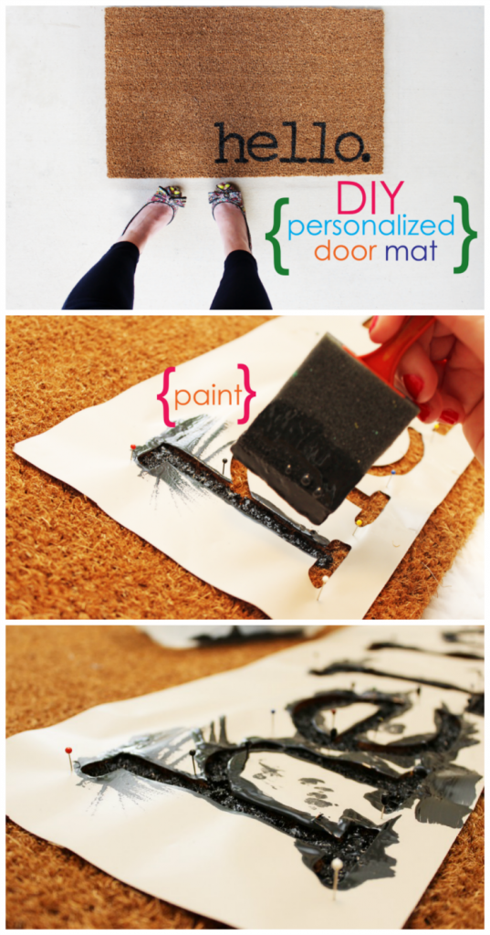 Easy Project for Summer: DIY Personalized Door Mats