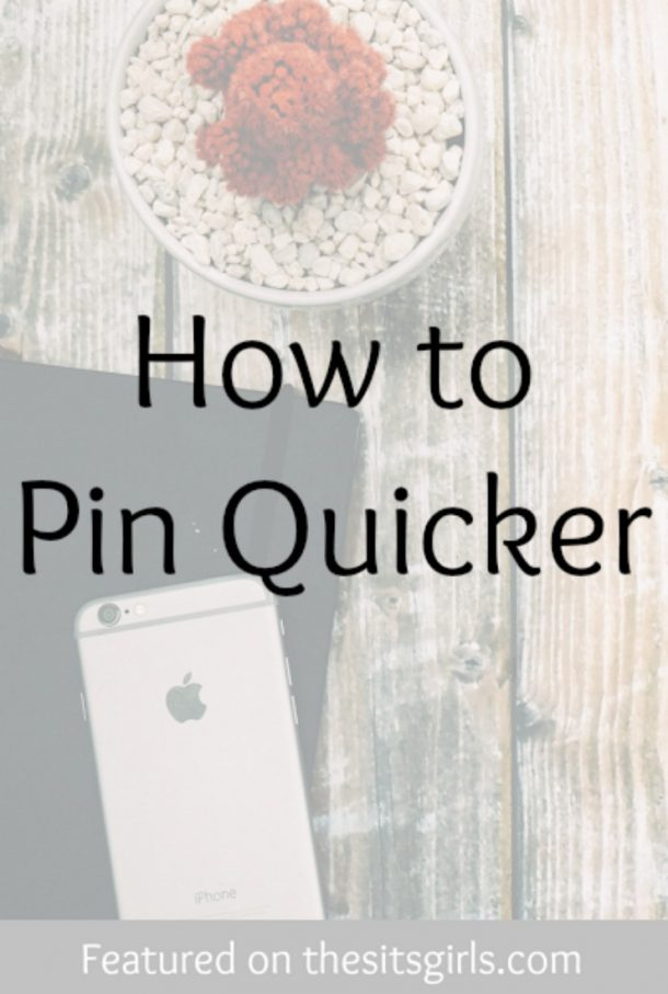 pin quicker