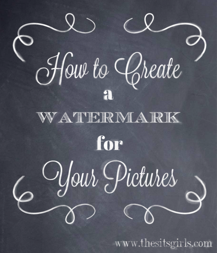 add a watermark to photos