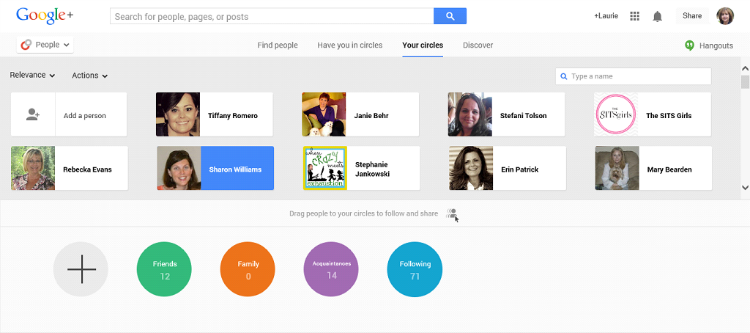 Google Plus Guide Organize Circles