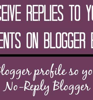 receive blogger comment replies