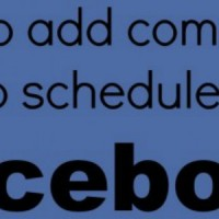 schedule facebook posts and comments