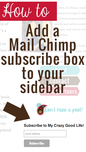 mailchimp subscribe box