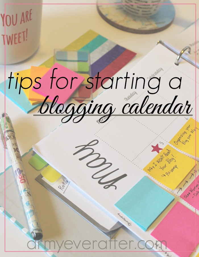 how to start a blog calendar