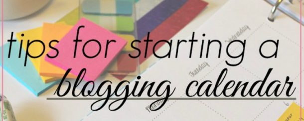 blog calendar tips