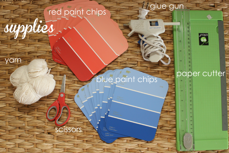 paint chip crafts supplies