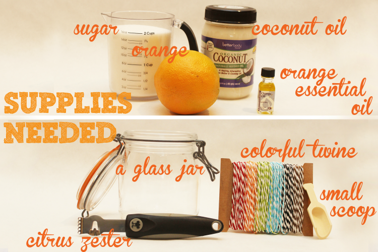 homemade sugar scrub recipe ingredients