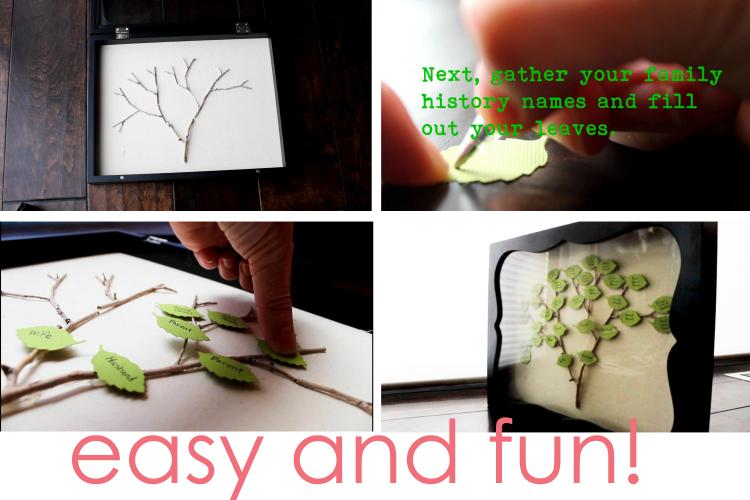 DIY Family Tree Shadow Box Instructions