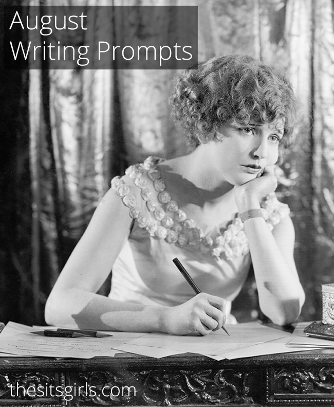 Do you need a little writing inspiration? We have writing prompts for each day of August to help you write and blog all month long.