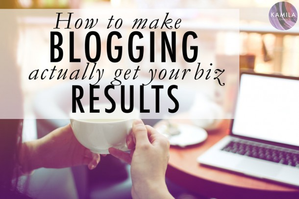 get good results from blogging