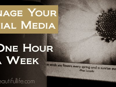 Schedule Social Media in Only an Hour a Week
