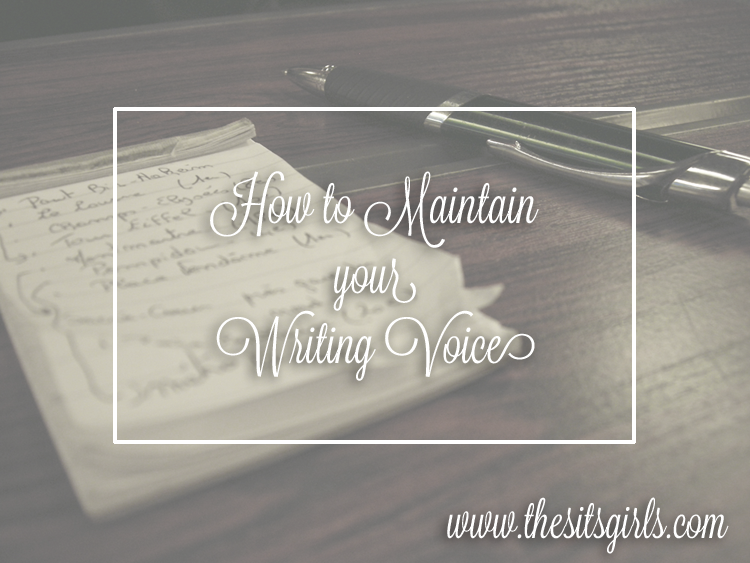 Learn how to find and maintain your writing voice here.