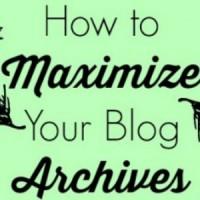 make your blog archives work