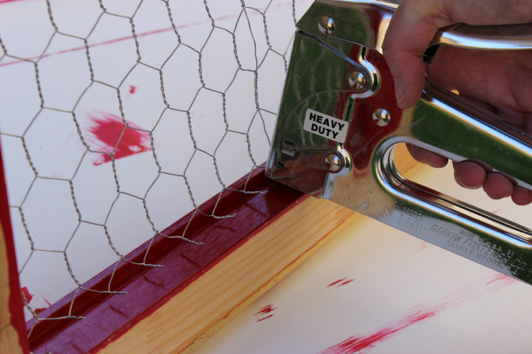 DIY Message Board Staple Chicken Wire