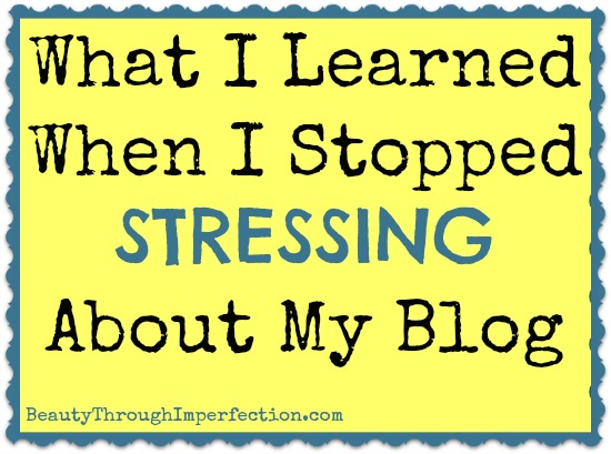 Learning how to be content with your blog