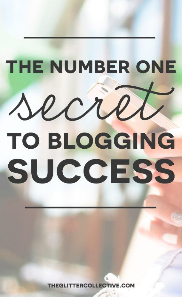 Do you know the biggest secret to blogging success? If you get this right, it makes everything else easier.