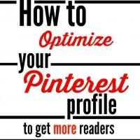 optimize your pinterest profile