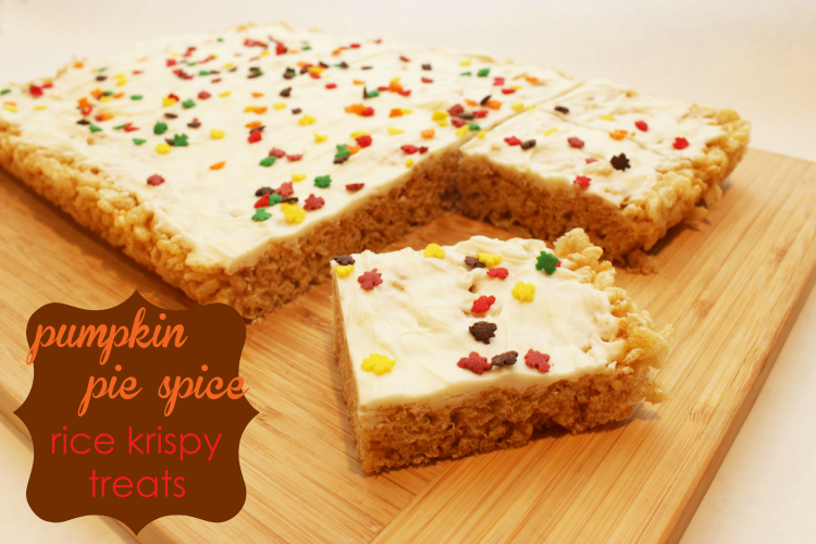 Pumpkin Pie Spice Rice Krispy Treats | THIS Is the perfect fall treat, and it is easy to make!