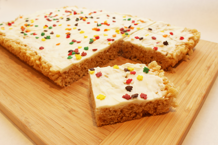 pumpkin pie spice rice krispy treats