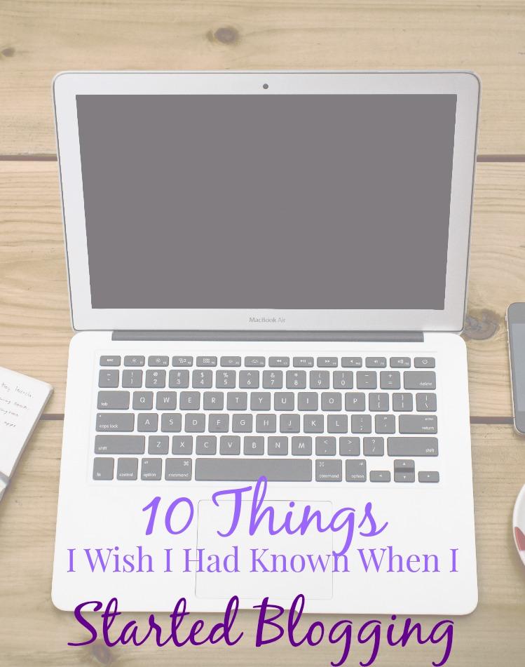 started blogging