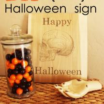 DIY Printed Wooden Halloween Sign