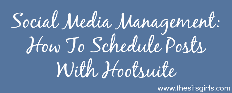 how to schedule with hootsuite