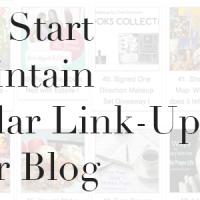 start a blog link-up