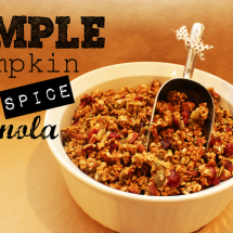 Simple Pumpkin Spice Granola