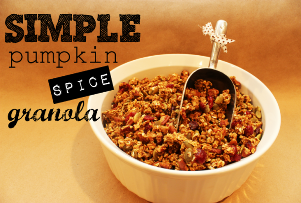 Pumpkin Spice Granola | This is an easy fall treat. Makes a great homemade gift, too.