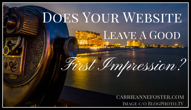 Does your website leave a good first impression? This great checklist will help you look at it with fresh eyes, and see if your design is working for you.