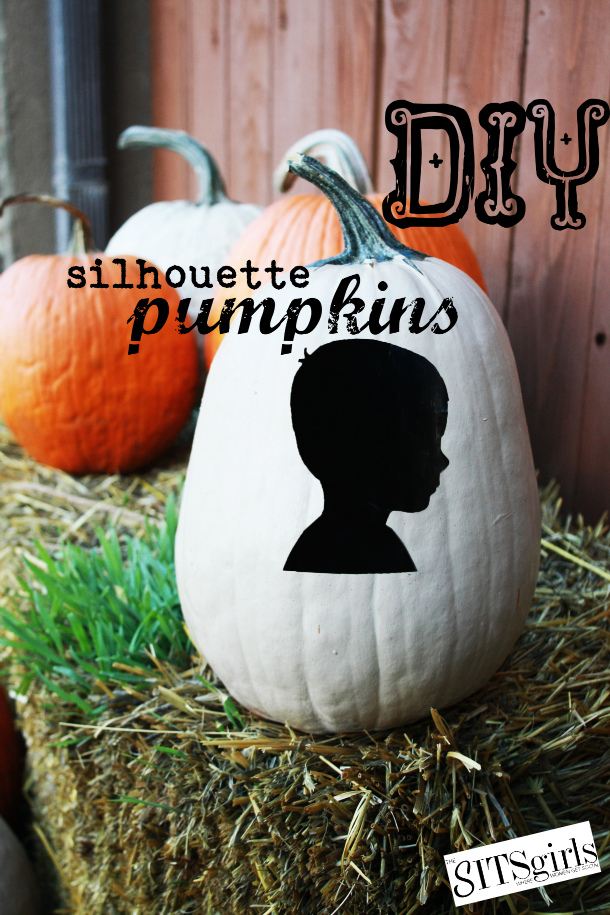 An updated take on decorating pumpkins - silhouette pumpkins.
