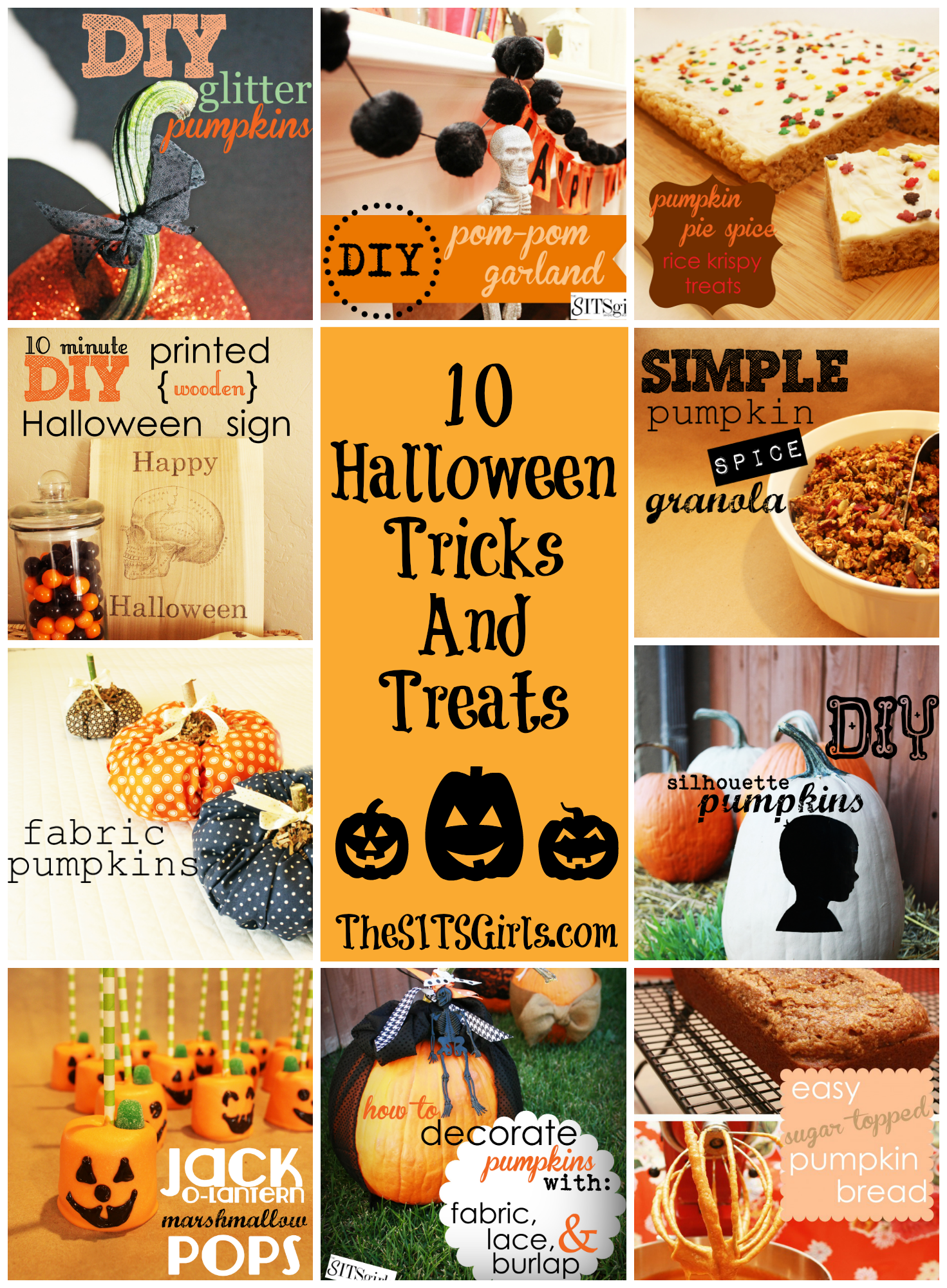 10 halloween ideas with craft and recipe tutorials from pumpkin spice granola to decorating pumpkins - Halloween Trick Ideas