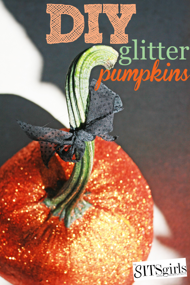 How to make DIY Glitter Pumpkins that will bring a touch of class and whimsy to any fall decor.
