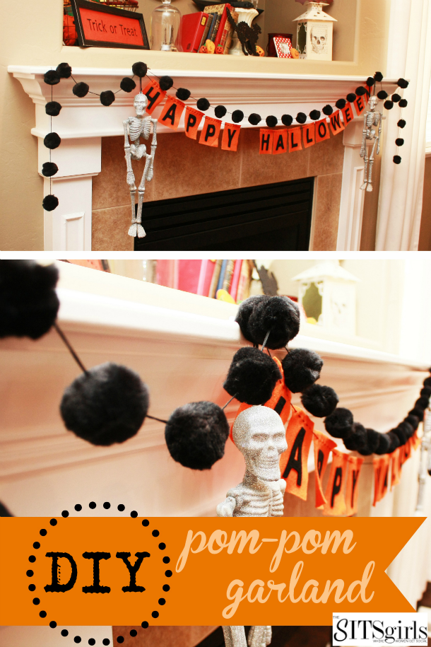How to make your own Halloween pom pom garland.