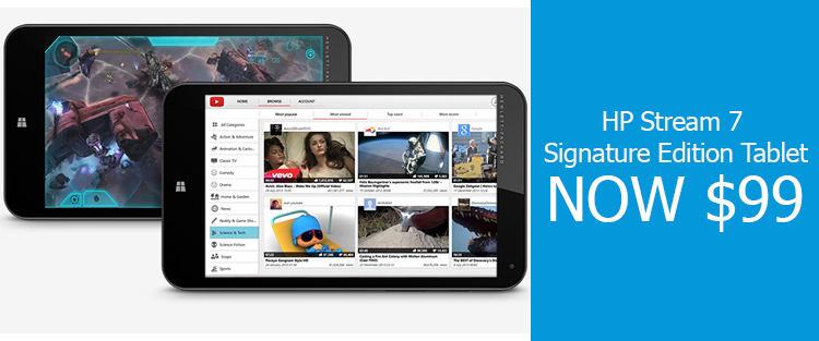 HP Stream 7 Signature Edition Tablet for $99 Before Black Friday