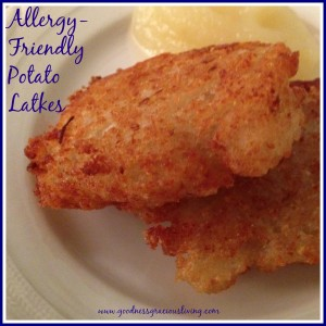 Allergy-friendly Potato Latkes